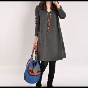 Dresses & Skirts - Solid Color Dress With Pocket